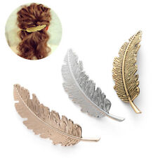 3D SHINEY UK Leaf Feather Hair Pin Jewelry Women Vintage Hair Clip Barrette Pins