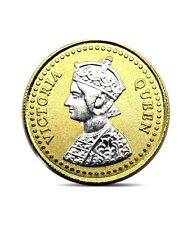 Pure Silver Coin 999 BIS Hallmarked Queen 24K Gold Plating 10 gms