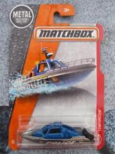 Matchbox 2017 #058/125 TINFORCER police boat blue silver Heroic New casting Long