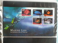 NEW ZEALAND 2003 ROSS DEPENDANCY MARINE LIFE SET 5 STAMPS FDC FIRST DAY COVER
