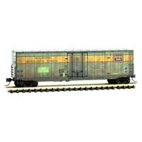 Burlington Northern ex-CB&Q 50' Standard Boxcar Weathered MTL#181 52 110 N-Scale