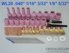 62 Pcs Tig Welding Torch Gas Lens Collet Body Nozzle Tungsten Kit Wp 171826