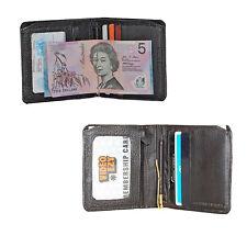 New Cenzoni Genuine Leather Black Bifold Wallet RFID Flip Up Window Men Credit