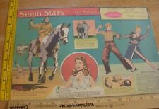 Betty Grable Linda Darnell Seein' Stars Feg Murray Sunday 1940s color panel 6g