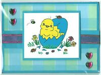 EASTER CHICK Holiday Greeting Card - Handmade A2 Size - Could be Baby  Birthday