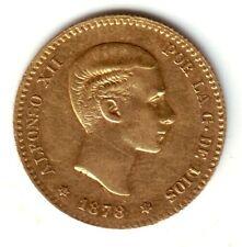 ESPAÑA 10 pesetas oro 1878 EM.M.*18* *78* Rey Alfonso XII