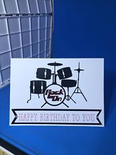 Drummer Band Musician Happy Birthday Card W Envelope 5x7 Blank Inside Handmade