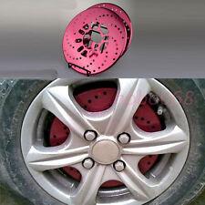 4 PCS Red Aluminum Universal Car Racing Disc Decorative Brake Rotor Cover Drum L