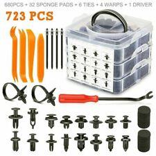 723Pcs Car Push Retainer Clips Kit Rivet Trim Pin Nylon Auto Fasteners Bumper