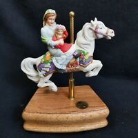 Vtg San Francisco Music Box Co. American Carousel Tobin Fraley Mother & Daughter