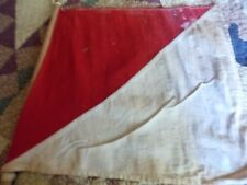 WWI ANTIQUE SEMAPHORE RED & WHITE SIGNAL FLAG