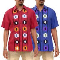 Men Dashiki Shirt Summer Short Sleeve Beach Party Top Loose Casual Shirt Blouse
