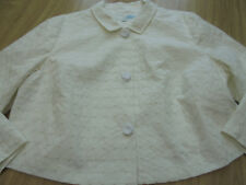 BODEN IVORY CHIC COTTON CASUAL JACKET SIZE 22 BNWOT