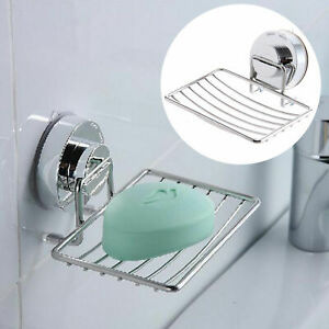 Stainless Steel Suction Cup Soap Holder Dish Soap Storage Case Home Accessories