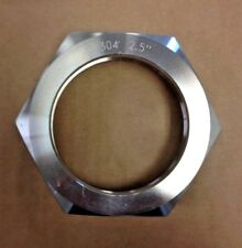"2.5"" Sanitary Hex Nut Bevel Seat Union T304 Stainless Steel Dairy Brewing NEW"