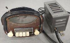 USED ORIGINAL PORSCHE 356 PRE A TELEFUNKEN RADIO W AMP DASH MOUNT SPEAKER CABLE