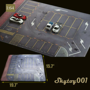 1: 64 Model Car Mouse Pad Scenery with Parking Lot Shooting Pad Mouse Pad Table