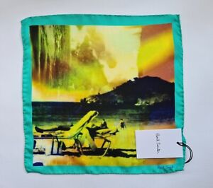 Paul Smith Pocket Square Photographic Print 100% Silk Handkerchief