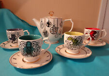 Disney Store ALICE IN WONDERLAND Through The Looking Glass LE Tea Set Cups, Pot