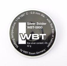 Silver solder WBT WBT0800 4% silver 42g premium grade audio solder