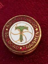 Brotherhood Railroad Trainmen Membership  Gold Plated & Enamel  Pin