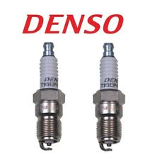 Pair Set of 2 Spark Plugs Denso Regular Resistor For Buick Chevy Ford GMC Mazda