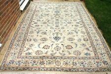 £6200 John Lewis Persiann Nainn hand woven silk & wool rug 307 x 200 cm Antique