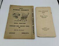 Vintage Dodge County Nebraska 1957 Directory & Farm Ownership Map