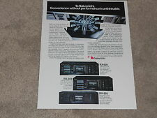 Nakamichi RX-505, RX-303, RX-202 Cassette Ad, 1984, Info, 1 page, ready to frame