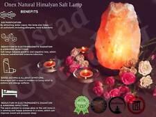 Himalayan Rock Salt Lamp Natural Crystal With Cable & Bulb Mediation Ionizer