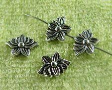 100pcs Tibetan Silver Beautiful Lotus Flower Spacers 12.5x9x4mm ZN64141