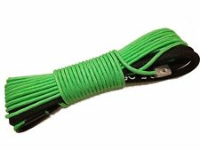 "Green Synthetic Winch Rope Line Cable 1/4""x50' 7000 LB With Rock Guard For ATV"