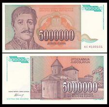 YUGOSLAVIA 5 Million (5000000) Dinara, 1993, P-132, UNC World Currency