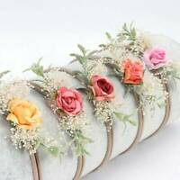 Summer Headband Pearl Floral Girl Elastic Hairband Photography Hair Accessories