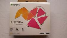 Nanoleaf Aurora Smarter Kit 9 Panel Modular Multicolor Light Full Spectrum