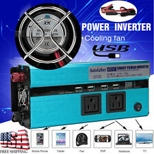 New listing Autofather Power Inverter 1500W/3000W Peak Dc 12V To Ac 110V Usb Adapter Charger