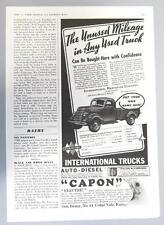 Original 1940 International Pickup Ad BUY ..UNUSED MILEAGE IN ANY USED IH TRUCK