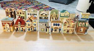 Hallmark Nostalgic Houses and ShopsLot Of 15, 2000 Through 2015, No Boxes EUC