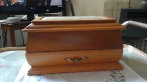 STYLED BY MELE WOODEN CASKET SHAPED JEWELLERY BOX