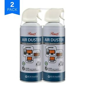 Rosewill Compressed Air Duster, 10oz Cleaning Spray for Electronics 2-Pack