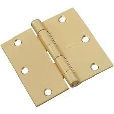 """50-Full Mortise Butt Steel Brass Plated 3/12"""" X 3 1/2"""" Door Hinge 2/Pk N142794"""