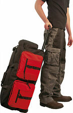 Travel Bag with Wheels Multi-Pocket case work holdall Black Red Portwest B908