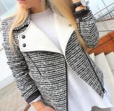 Amazing ZARA Black White/Ecru Mixed Fabric Jacket Blazer Size XS