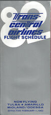 Trans-Central Airlines system timetable 2/1/82 [7112]