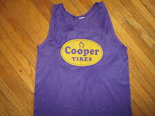 COOPER TIRES #69 BASKETBALL JERSEY Purple Mesh vtg 80s 90s Fits like SMALL