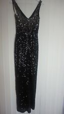 GLAMOROUS BLACK SEQUIN FRENCH CONNECTION DRESS SIZE 6