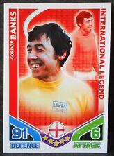 Gordon Banks England International Legend football trading card Topps
