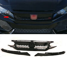 For 17-18 Honda civic 5dr EX SPORT TYPE-R Style Black Front Upper Grill ABS FK8