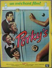 PORKY'S Affiche Cinéma 53x40 Movie Poster Bob Clark