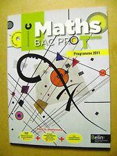 Livre Maths BAC PRO Terminale groupement C programme 2011 avec 1  CD-ROM  /U16